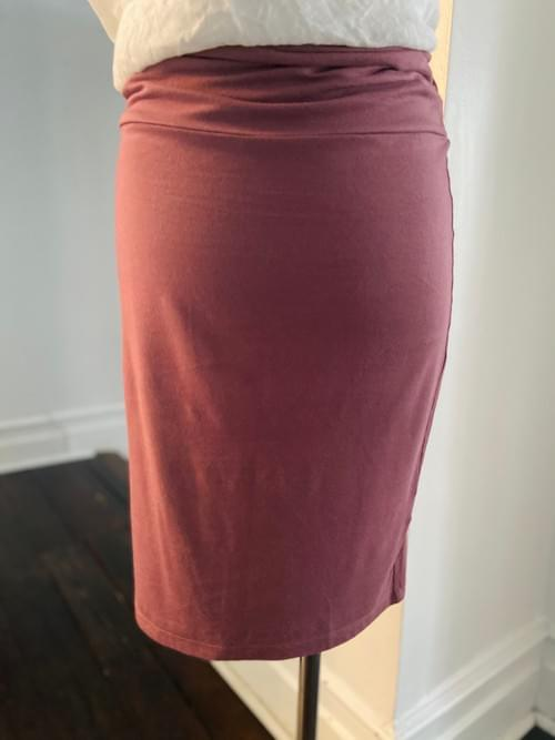 Vintage Ziliotto Dusty Rose Pencil Skirt