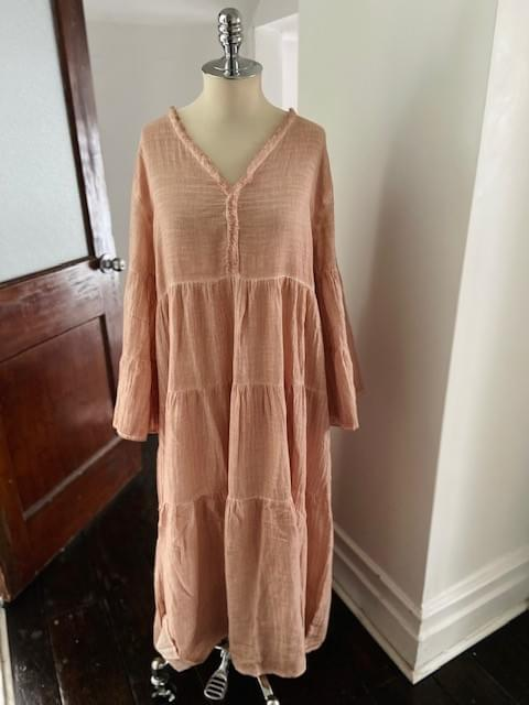 Long Boho Cotton Dress