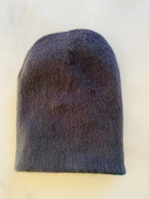 Teal and Grey Alpaca Reversible Hat