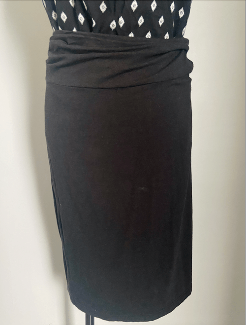 Vintage Ziliotto Black Pencil Skirt size MEDIUM