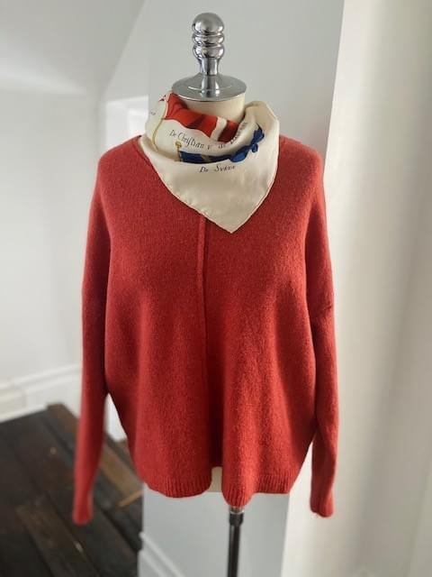 Blossom Pink V Neck Sweater