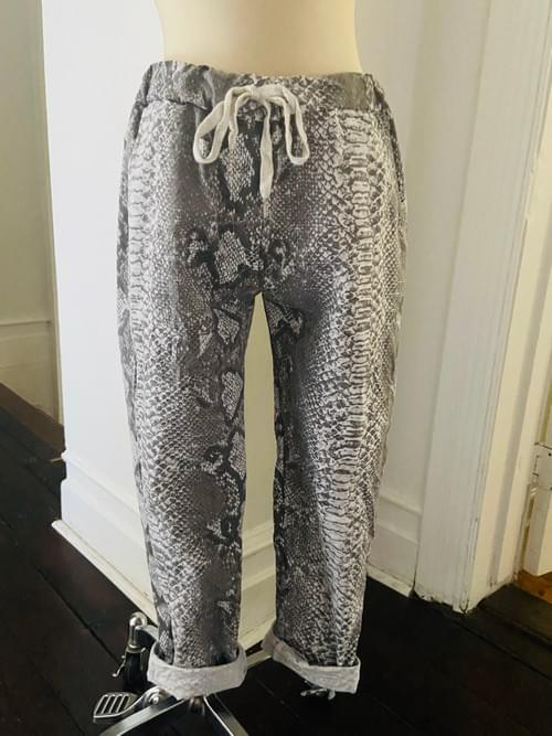 Faux Snake Skin Cotton Pant NOW ON SALE