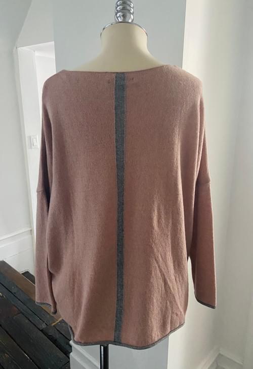 Dusty Rose V Neck Sweater