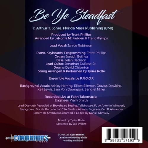 Be Ye Steadfast (LaNorris McFadden & P.R.O.O.F. feat. Janice Robinson) - Single