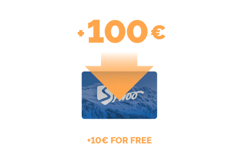 Top-up of €100 + €10 for free