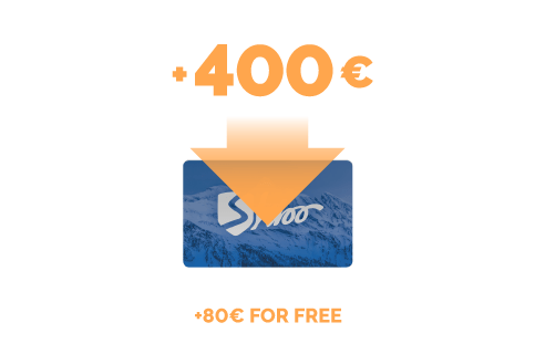 Top-up of €400 + €80 for free
