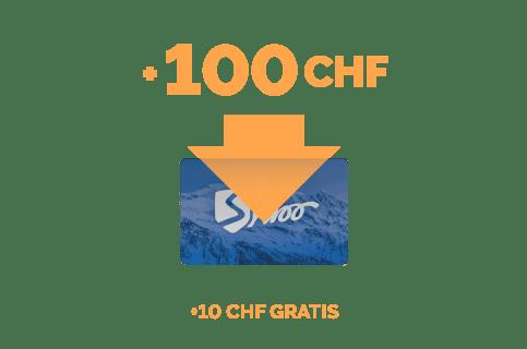 Ricarica di 100 CHF + 5 CHF gratis