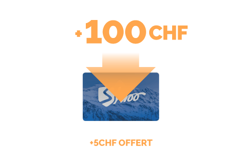 Recharge de 100 CHF + 5 CHF gratuits