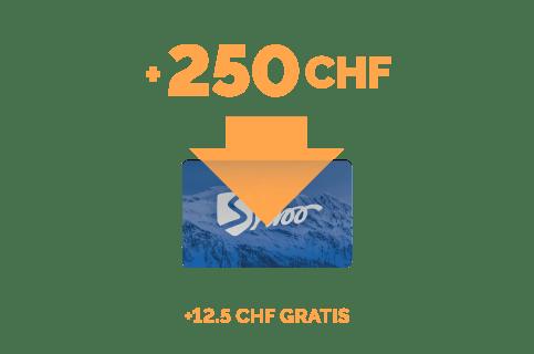 Aufladung im Wert von 250 CHF