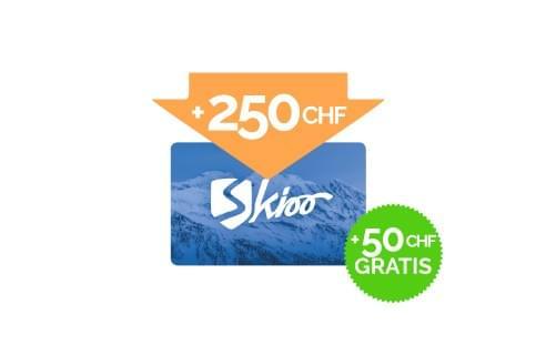 Ricarica di 250 CHF + 50 CHF gratis
