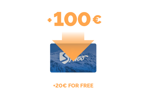 Top-up of €100 + €20 for free