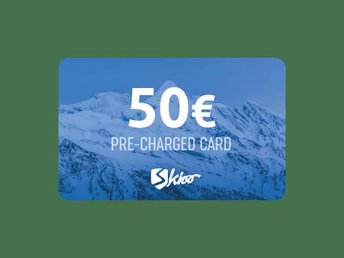 50CHF vorab aufgeladenen Skioo Pass