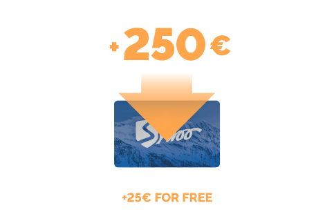 Top-up of €250 + €25 for free