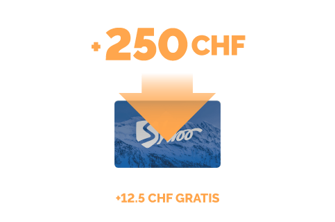 Ricarica di 250 CHF + 12.5 CHF gratis