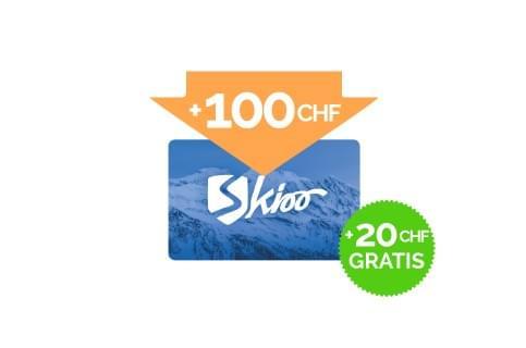 Ricarica di 100 CHF + 20 CHF gratis