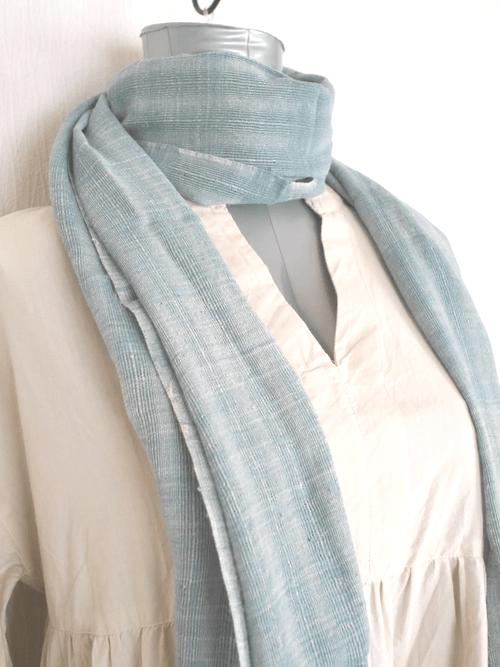 インレー湖の手織りコットンスカーフ its007