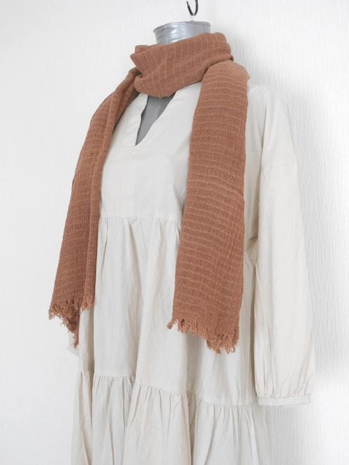 インレー湖の手織りコットンスカーフ its005
