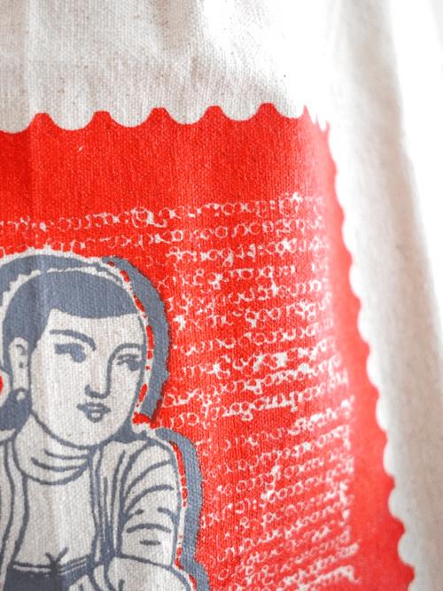 エコバッグ (いにしえの女性・From Myanmar with love)mto201