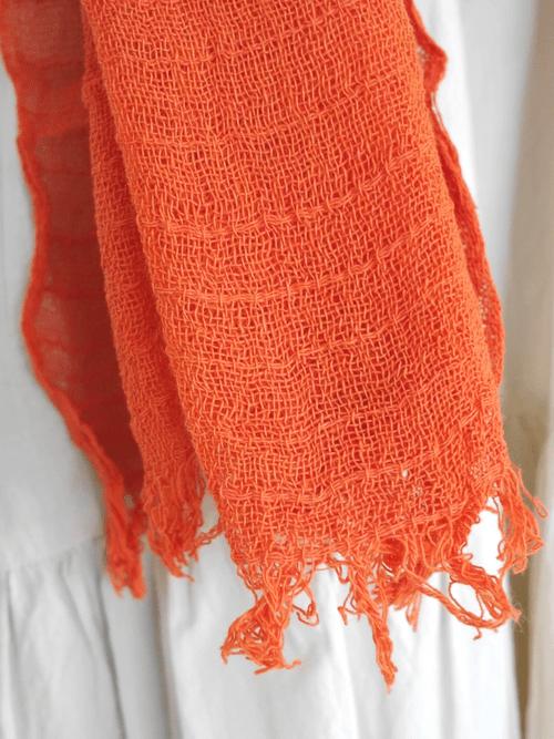 インレー湖の手織りコットンスカーフ its003