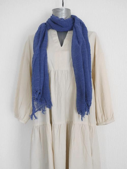 インレー湖の手織りコットンスカーフ its006