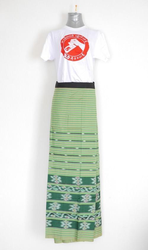 女性用ロンジー(シャン族・シルク混紡)ロンジータイプ