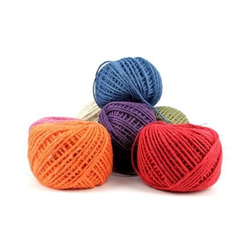 Jute/Burlap Multi Color Ball