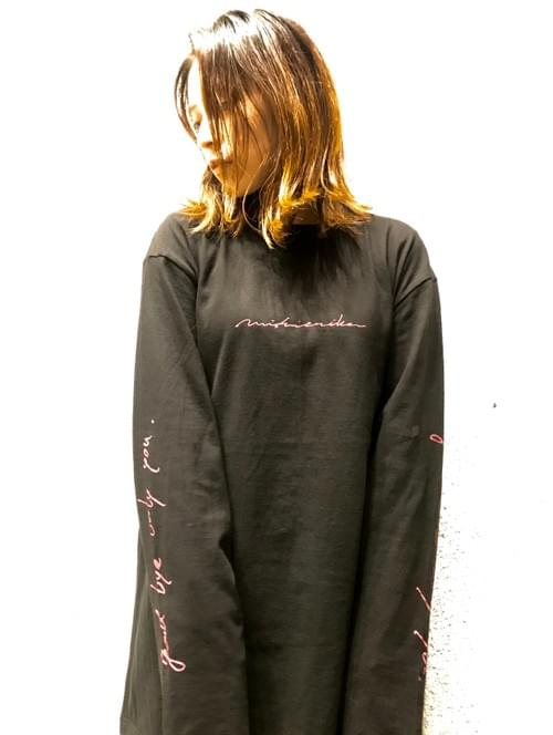 【西恵利香】Only you Long T-shirts -Black × Red-