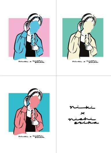 【西恵利香】nishierika×niki collaboration sticker