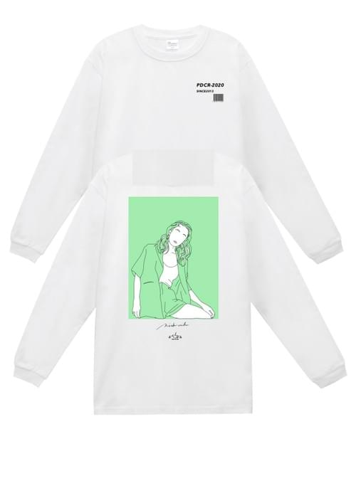 【collabo goods】PDC L/S T-shirts(西恵利香ver.)