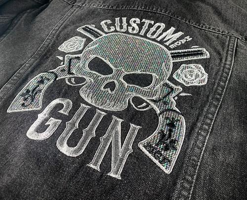CMG Glitter Denim jacket for ladies