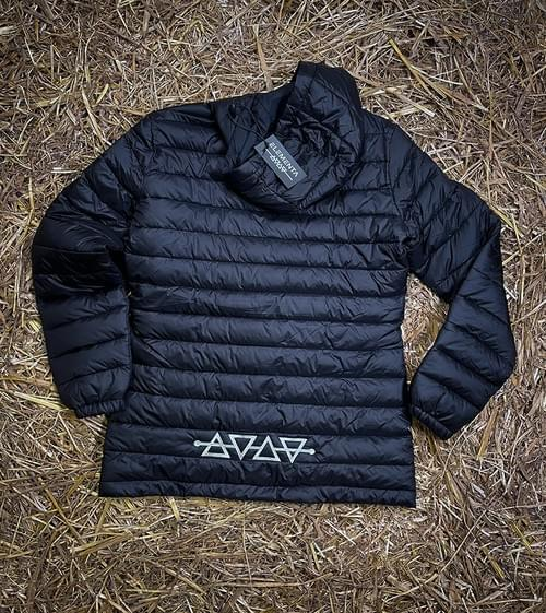 Downjacket with hood for ladies