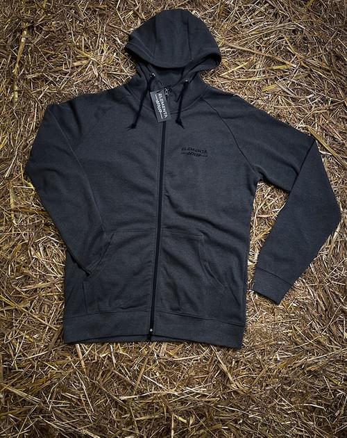 ELEMENTA Grey Zipped Zipped hoody for men