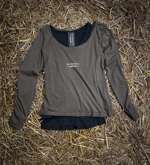 CMG Maroon Long-Sleeves T-shirt for ladies