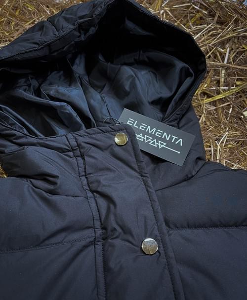 ELEMENTA Black Down Jacket for ladies