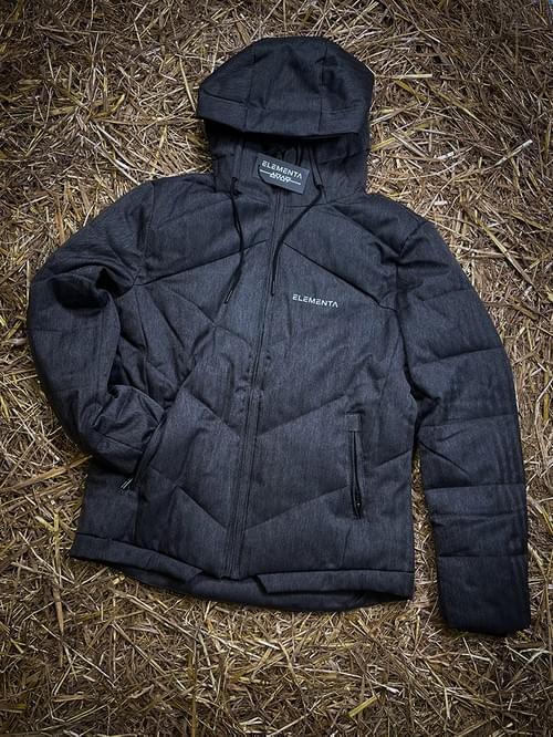 ELEMENTA Grey Down Jacket for men