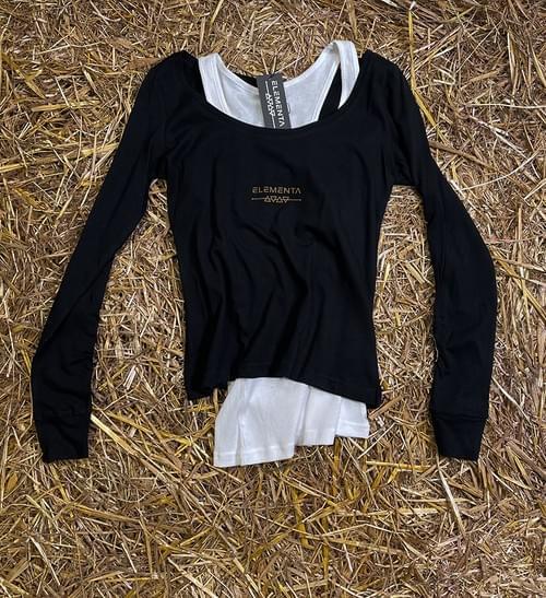 CMG Black Long Sleeves T-shirt for ladies