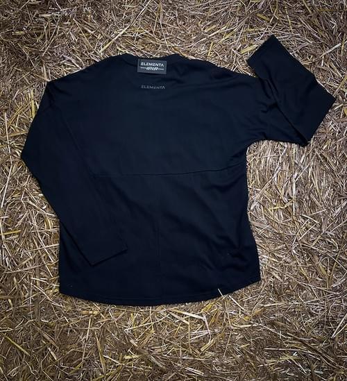 ELEMENTA Black long sleeve T-shirt for men