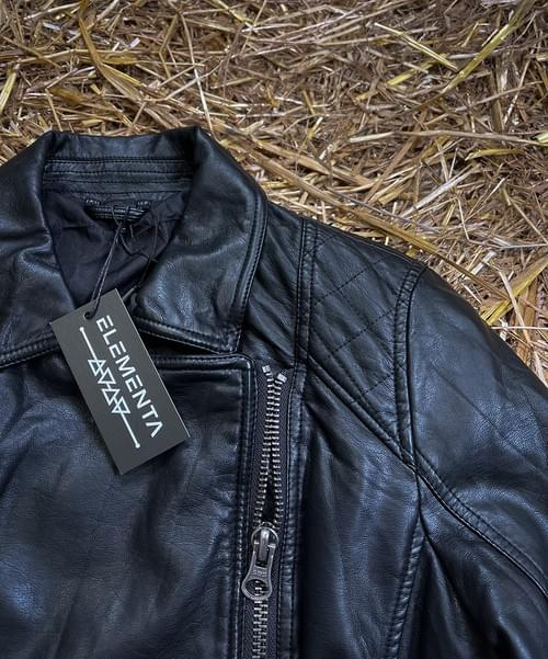 CMG Glitter Faux Leather Jacket for ladies