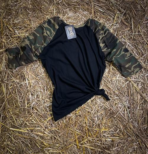 ELEMENTA Camo Mid-sleeves T-shirt for ladies