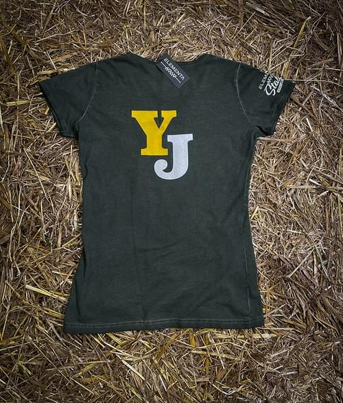Yellow Jersey Olive Green T-shirt for ladies
