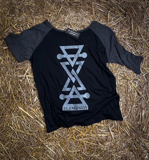 ELEMENTA Grey Mid-sleeves T-shirt for ladies