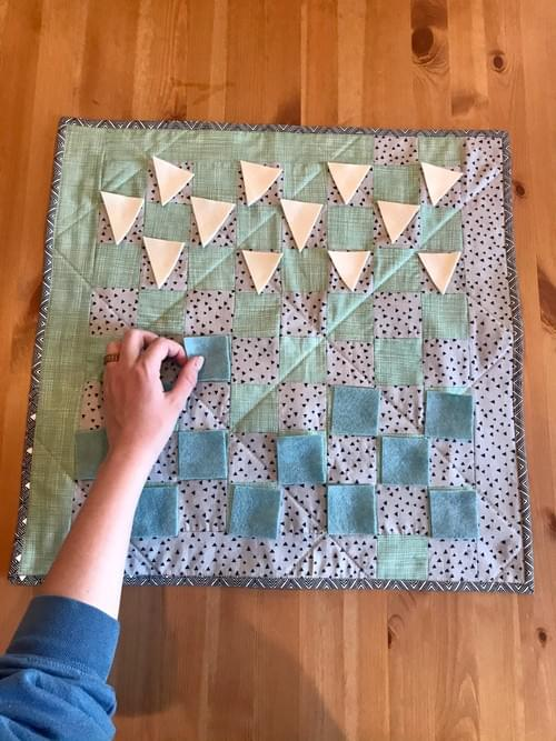 Blue Travel Checkerboard