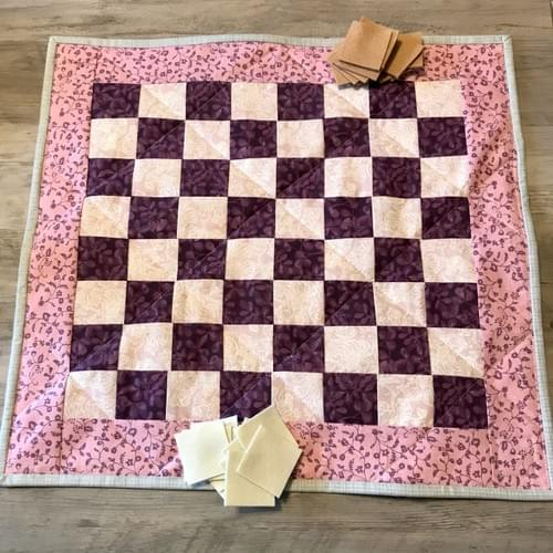 Pink Travel Checkerboard