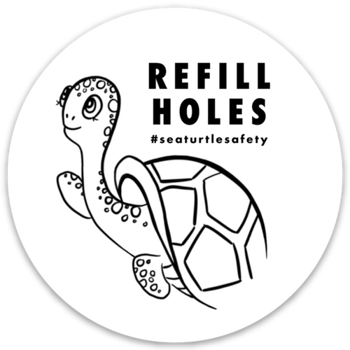 "Get a ""Refill Holes"" Sticker"
