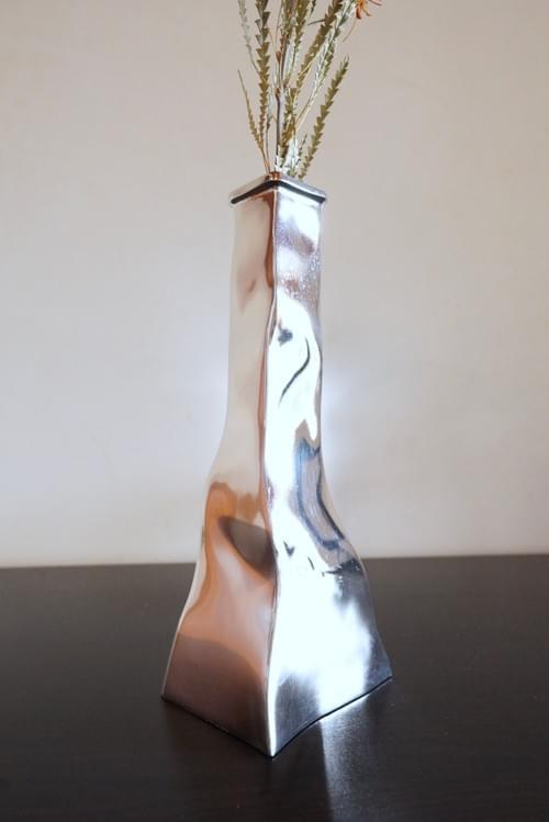 stainless flower vase