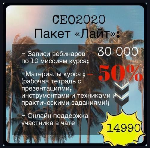 ПАКЕТ ЛАЙТ Онлайн-курса СЕО2020 Вторая Ступень