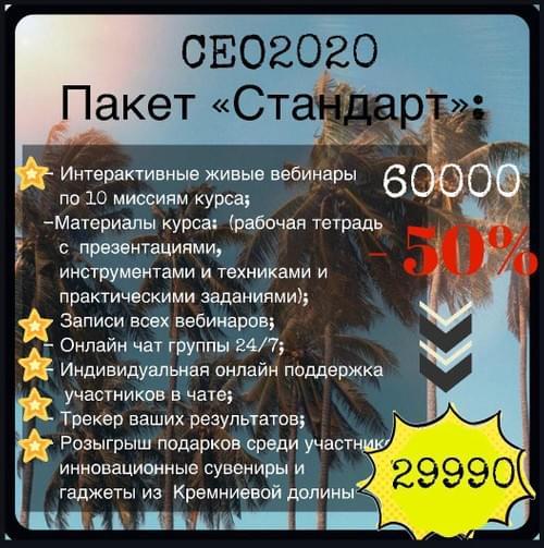 ПАКЕТ СТАНДАРТ Онлайн-курса СЕО2020 Вторая Ступень