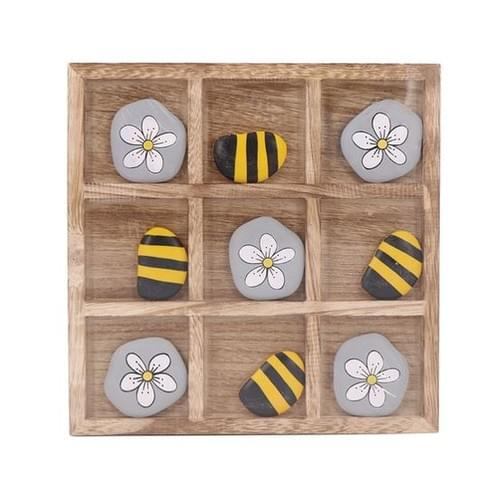 Bees & Flowers Tic Tac Toe Board