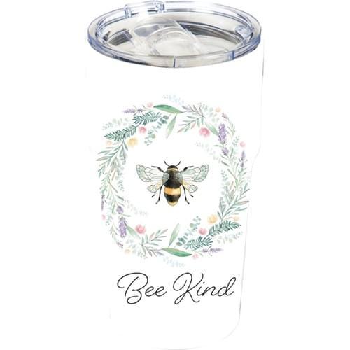 Ceramic Tumbler with Tritan Lid *Bee Kind*