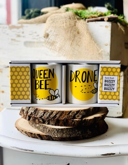 Queen Bee + Drone Mug Set